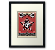 think and create print and destroy 3 Framed Print