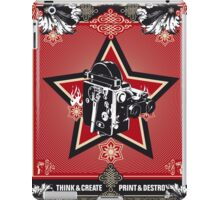 think and create print and destroy 3 iPad Case/Skin