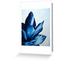 Red Ginger in Blue Greeting Card