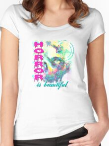 HORROR IS SO PRETTY Women's Fitted Scoop T-Shirt