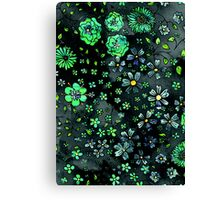 Green Small Flowers Canvas Print