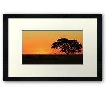 Sunset Gold - Nature Background - African Peace Framed Print