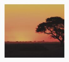 Sunset Gold - Nature Background - African Peace Kids Clothes
