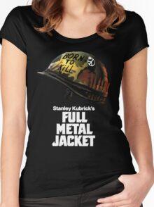 Stanley Kubrick's Full Metal Jacket   Black Women's Fitted Scoop T-Shirt