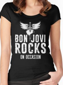 Supernatural Quote  Bon Jovi rocks Women's Fitted Scoop T-Shirt