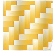yellow parquet background Poster