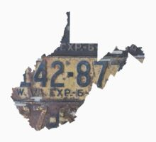 Vintage West Virginia License Plates One Piece - Short Sleeve