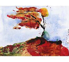 Autumnal wind - original watercolour Photographic Print