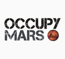 Occupy Mars - Space Planet - SpaceX Kids Tee