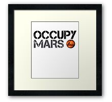 Occupy Mars - Space Planet - SpaceX Framed Print
