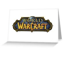 world of warcraft, wow Greeting Card