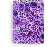 Purple Small Flowers Canvas Print