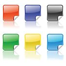 set of colorful stickers by valeo5
