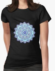Blue mandala Womens Fitted T-Shirt