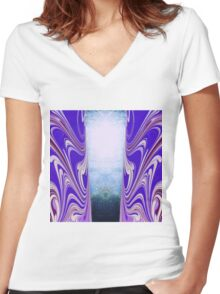 Door to another world Women's Fitted V-Neck T-Shirt