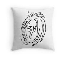 Unintentional Lennon (black) Throw Pillow