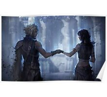 Cloud Strife and Tifa Lockhart Poster