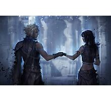 Cloud Strife and Tifa Lockhart Photographic Print