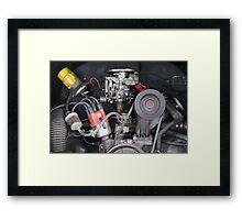 Camper Van engine exposed Framed Print