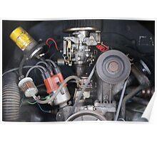 Camper Van engine exposed Poster