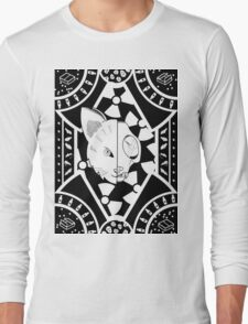 Schrodinger's Cat Pattern Long Sleeve T-Shirt