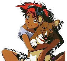 Edward and Ein Cowboy Bebop Photographic Print