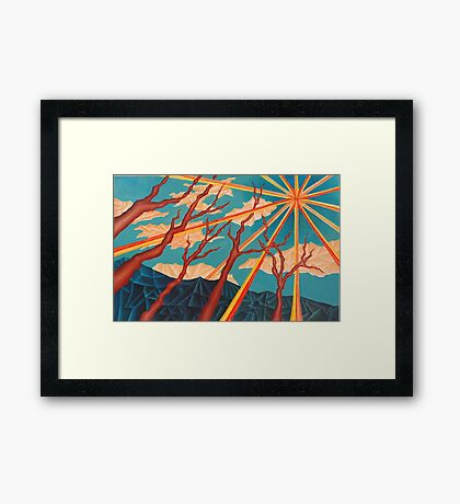 Sunshine and Trees Painting Framed Print