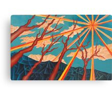 Sunshine and Trees Painting Canvas Print