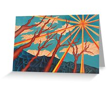 Sunshine and Trees Painting Greeting Card