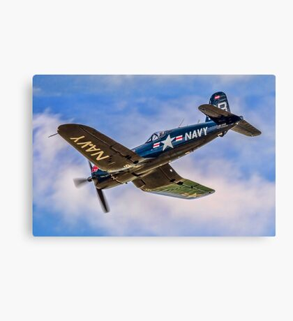 Chance Vought F4U-4 Corsair 96995 OE-EAS Canvas Print