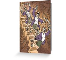 Dude Descending a Staircase Greeting Card