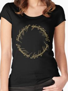 LOTR-Ring Inscription Women's Fitted Scoop T-Shirt