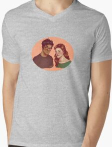 James and Lily Mens V-Neck T-Shirt