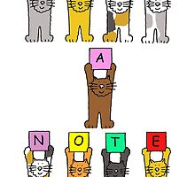 Just a note, cute cartoon cats. by KateTaylor