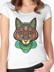 Psychedelic fox Women's Fitted Scoop T-Shirt