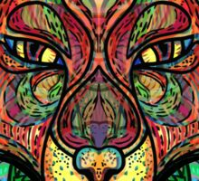 Psychedelic fox Sticker
