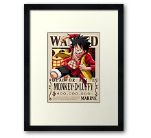 Monkey D. Luffy wanted. 400 mil New world Framed Print