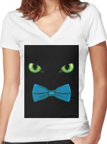 Harry, The Dapper Darkness Women's Fitted V-Neck T-Shirt