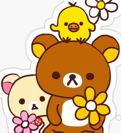 Rilakkuma and Friends Sticker