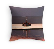 Last Sea Going Paddle Steamer in The World PS Waverley. Throw Pillow