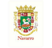 Navarro Shield of Puerto Rico Art Print