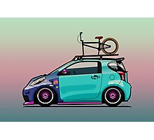 Slammed Toyota Scion iQ With BMX Bike Photographic Print