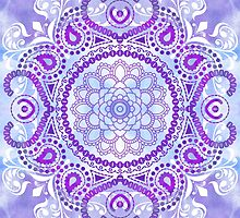 Purple Lotus Mandala by Tammy Wetzel