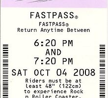 Rock n Rollercoaster FastPass  by allyonlyweknow