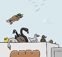 Ducks on Trucks (teals on wheels) by Thingsesque