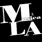 Musica L.A. black logo by Larry Costales