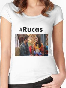 Rucas- Ski Lodge Women's Fitted Scoop T-Shirt