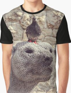 The Polar Bear and the Pigeon Graphic T-Shirt