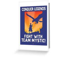 Pokemon GO: Team Mystic Propaganda Poster Greeting Card