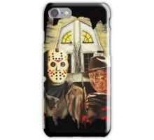 Freddy vs Jason Horror American Gothic iPhone Case/Skin